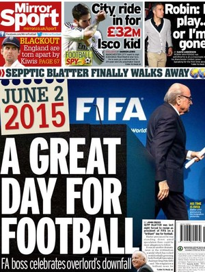 Capa Sport Mirror Blatter (Foto: Reprodução)