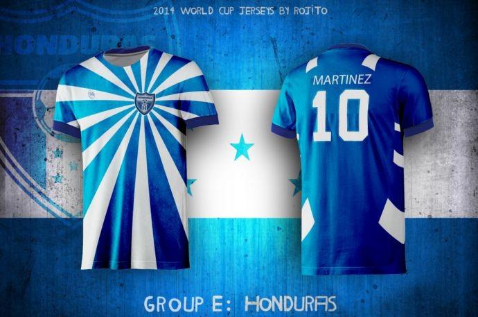 Blog da Copa - design camisa de Honduras