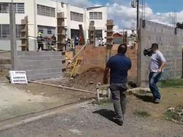 Rebelião no Presídio Regional de Lages foi registrada nesta quinta-feira (Foto: Eduarda Demeneck/RBS TV)