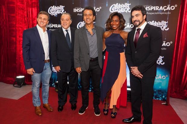 Luciano Huck, Tony Ramos, Marcos Palmeira, Glória Maria e Fábio de Melo (Foto: Anderson Barros / EGO)