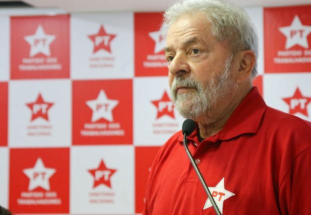 O ex-presidente Luiz Inácio Lula da Silva participa da executiva do PT (Foto: Ricardo Stuckert/Instituto Lula)