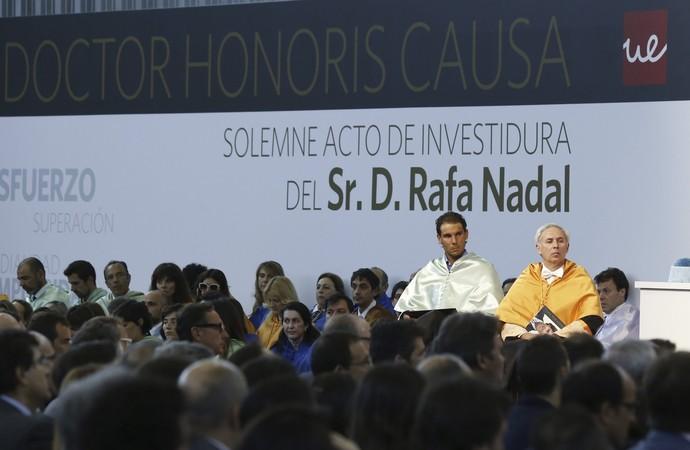 Rafael Nadal Doutor Honoris Causa Universidade Europeia (Foto: Sergio Barrenechea/EFE)