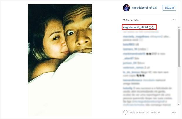 Nego do Borel e a namorada (Foto: Instagram / Reprodução)