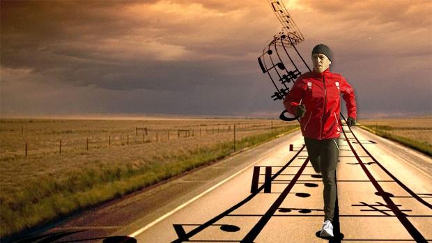 corrida música (Foto: Globoesporte.com)