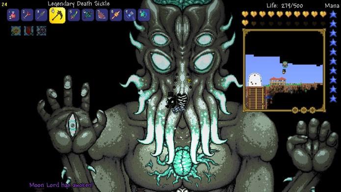Veja dicas para matar o chefão Moon Lord em Terraria (Foto: Divulgação/Steam Community)