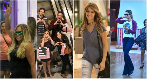 Famosos passeiam no shopping (Foto: AgNews)