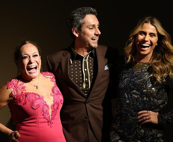 Só alegria! Suzana Vieira, Alexandre Nero e Giovanna Antonelli riem à toa em festa de lançamento (Foto: Carol Caminha/Gshow)