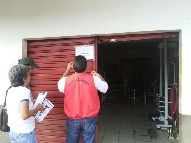 Academias foram fiscalizadas e fechadas no interior do Acre (Foto: Ismael Oliveira/Arquivo Pessoal)