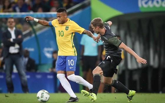 Neymar na final da Olimpíada (Foto: Ricardo Nogueira)