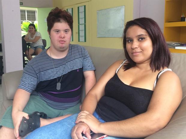 Jovens com deficiência intelectual e síndrome de Down em Campinas (Foto: Priscilla Geremias/G1)