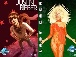 Justin Bieber e Lady Gaga viraram personagens de biografias em quadrinhos (Foto: Divulgação / Site oficial)