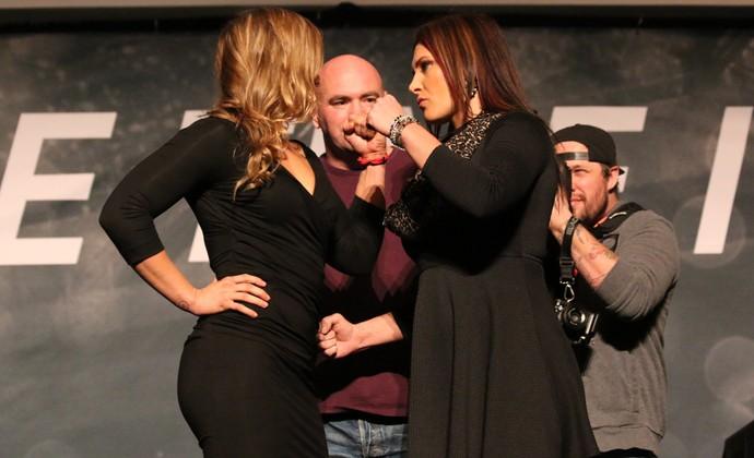 Ronda Rousey x Cat Zingano encarada UFC (Foto: Evelyn Rodrigues)