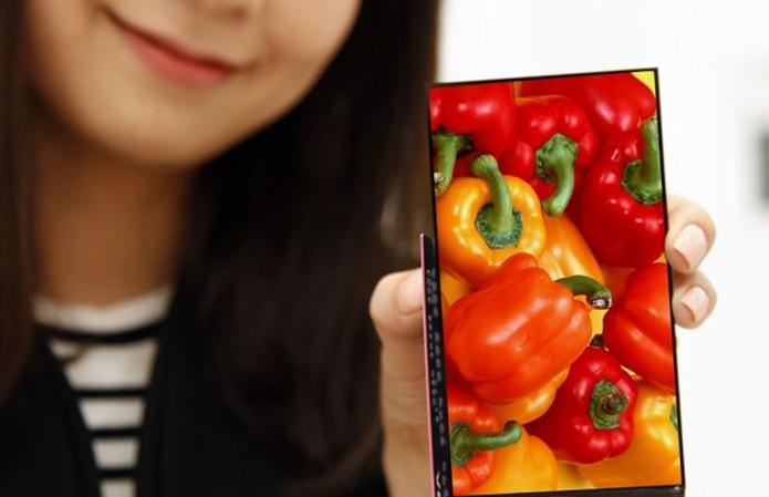 Novo display da LG quase não tem bordas na lateral (Foto: Divulgação)