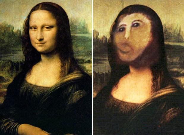 'Mona Lisa', de Leonardo da Vinci, ganhou versão inspirada na 'pior restauração da história'. (Foto: Reprodução)