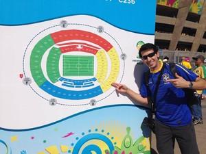 Entrada do estádio Mineirão para a partida entre Brasil e Chile (Foto: (Arquivo pessoal/ Luís Corvini))