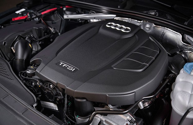 Motor do novo Audi A4 (Foto: Fabio Aro / Autoesporte)