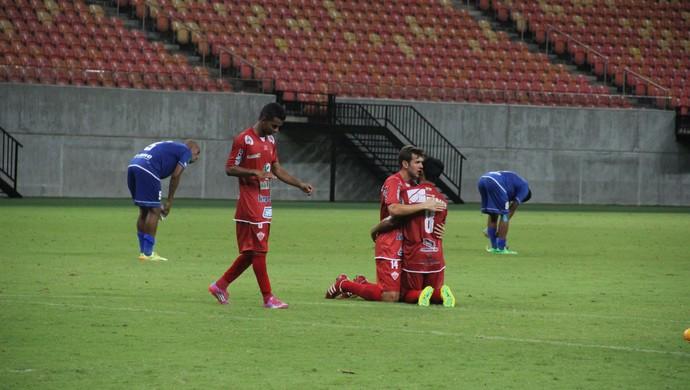 Nacional perdeu em casa para o Rio Branco e não tem mais chances de avançar de fase na Série D (Foto: Marcos Dantas)