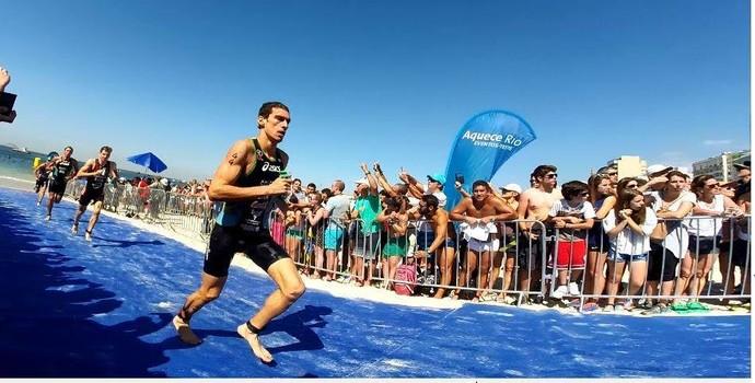 Diogo Sclebin competindo no evento-teste do Rio, no mês passado (Foto: Divulgação)