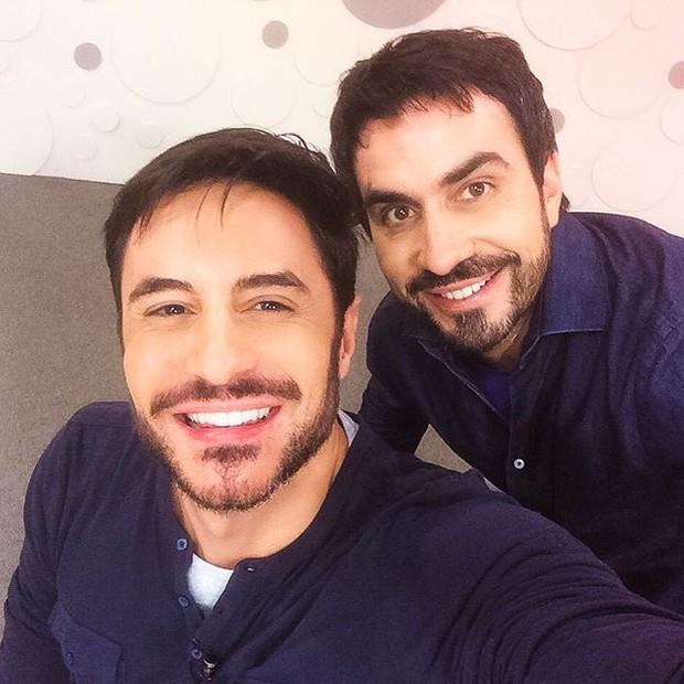 Ricardo Tozzi e Padre Fabio de Melo (Foto: Reprodução/Instagram)