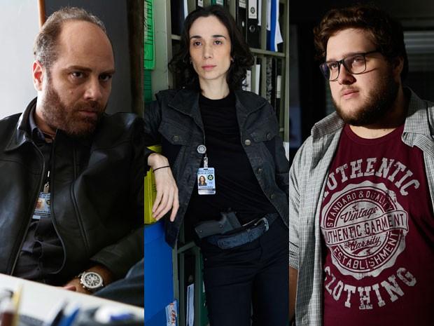 Nelson, Claudia e Cícero também são peças-chave no time da investigação (Foto: Fábio Rocha/TV Globo)