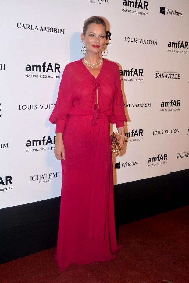 Kate Moss no baile de gala da amfAR (Foto: Caio Duran e Thiago Duran / AgNews)