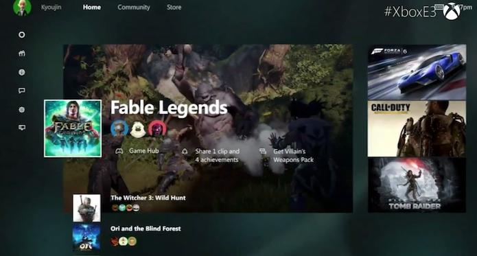 Xbox One: vídeo detalha nova interface do console (Foto: Reprodução)