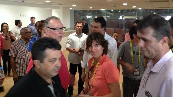 Shelda, Carlos Arthur Nuzman, Camilo Santana, Centro de Formação Olímpica, Jogos Escolares (Foto: Thaís Jorge)