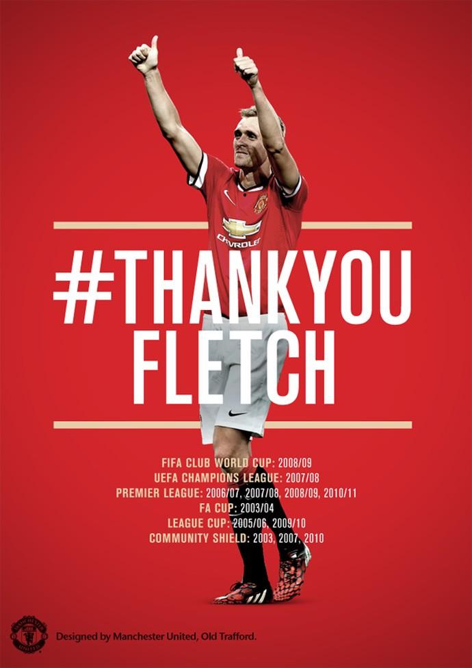 Darren Fletcher, Homenagem Manchester United (Foto: Reprodução / Twitter)