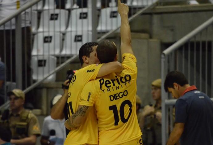 Diego Jaraguá Joinville Liga Nacional de Futsal (Foto: Henrique Porto/Agência Avante!)