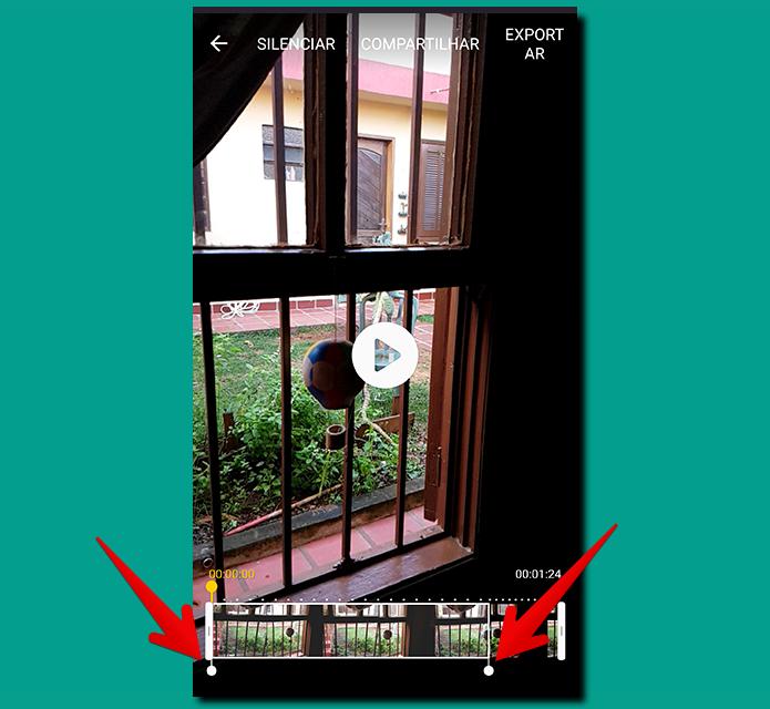 Arraste os pontos inicial e final da câmera lenta, simbolizados pelas setas, para definir onde o slow motion começa e onde termina no seu vídeo (Foto: Reprodução/Filipe Garrett)