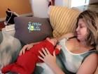 Bárbara Borges posta foto com Theo Bem e fala sobre adaptação do bebê