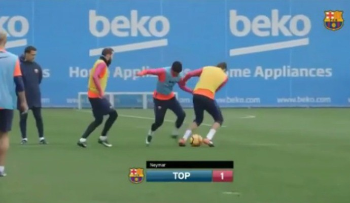 """BLOG: Neymar posta """"caneta esculachada"""" dada em Piqué durante recreativo do Barça"""