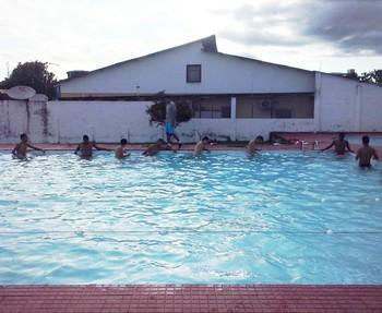 Titulares na piscina Rio Branco-AC (Foto: Duaine Rodrigues)