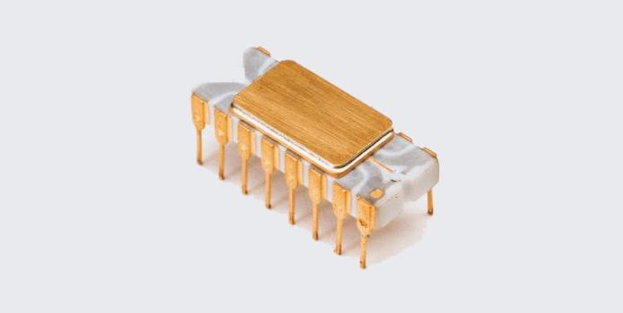 4004 foi o primeiro processador da Intel, usado em calculadoras (Foto: Divulgação/Intel)