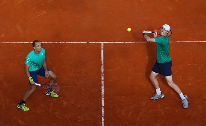Bruno Soares e Jamie Murray no Masters 1000 de Monte Carlo (Foto: Getty Images)