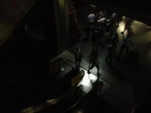 Escadarias ficaram paradas com a falta de luz (Foto: André Marini/Arquivo Pessoal)