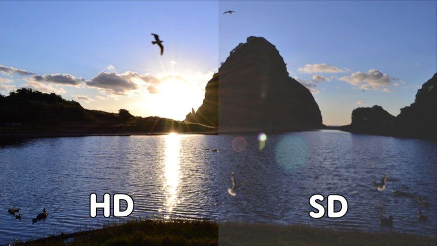 Imagem em HD e em SD (Foto: Divulgação/ TV Gazeta)