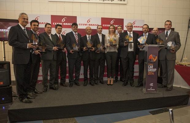 Representantes das montadoras receberam os prêmios (Foto: Divulgação)