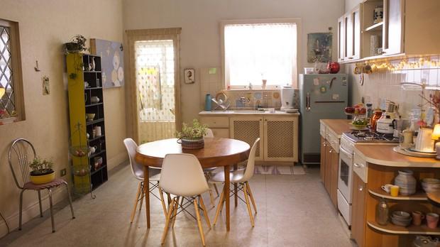 A cozinha do cenrio de 'Lili, a ex' segue a tendncia retr (Foto: Andr Brando/Divulgao)