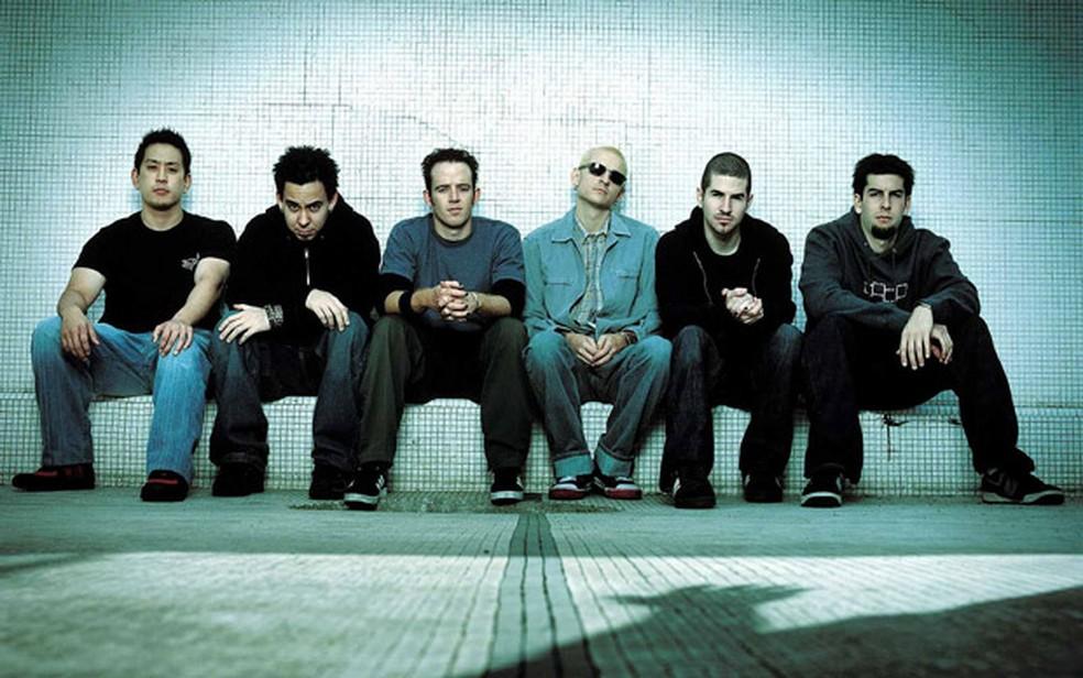 A banda Linkin Park, que fecha o Maximus Festival neste sábado (Foto: Divulgação)