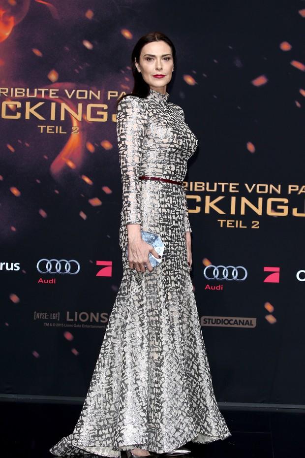 Michelle Forbes na pré-estreia de Jogos Vorazes: A Esperança - Parte 2, em Berlim (Foto: Getty Images)
