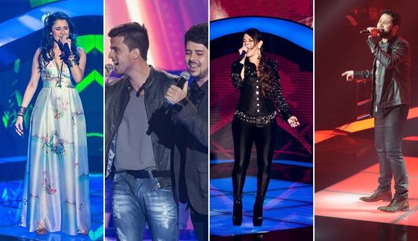 Paranaenses The Voice (Foto: TV Globo/ Isabella Pinheiro/ Elles Soares/ Renato Rocha Miranda)