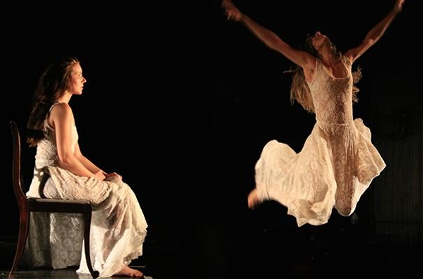 """Jackeline Stefanski e Milena Filó em cena de """"Teatro de Bonecas"""" (Foto: Divulgação)"""
