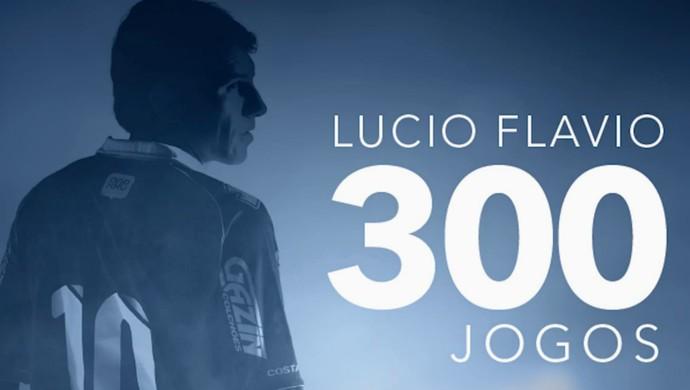 Meia Lucio Flavio do Paraná Clube 300 jogos (Foto: Site oficial do Paraná Clube/Reprodução)