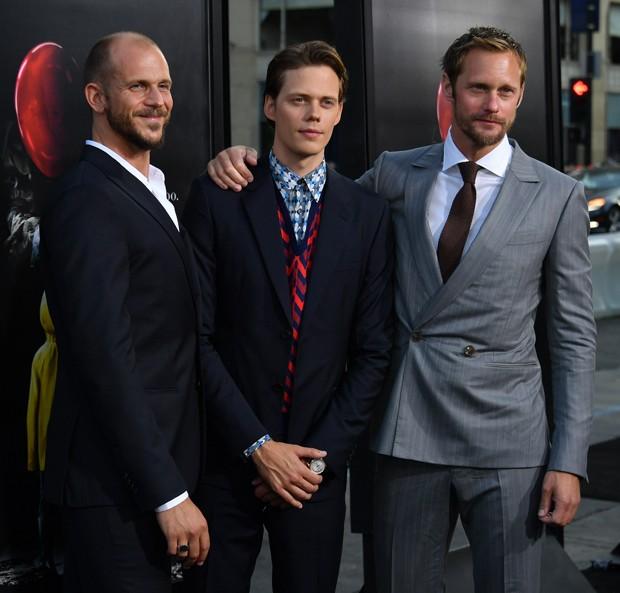 Os irmãos Gustaf,. Bill (protagonista de It: A Coisa) e Alexander Skarsgard (Foto: Getty Images)