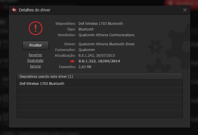 Desinstale, reverta ou ignore uma atualização de driver (Foto: Reprodução/Paulo Alves)