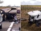 Carros batem de frente e duas pessoas morrem na BR-226 no RN