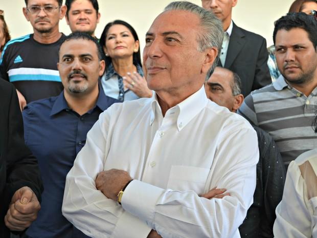 Em visita ao Acre, Michel Temer anunciou que este é o momento de destaque do PMDB (Foto: Iryá Rodrigues/G1)