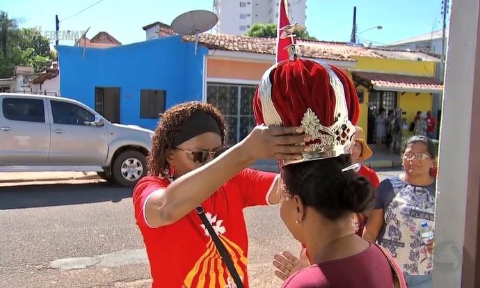 Os festejos ao Divino Espírito Santos (Foto: Reprodução/ É Bem MT)