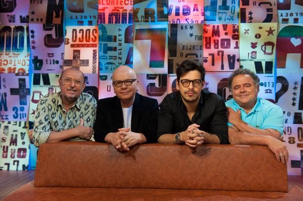 Marcelo Tas, João Vicente de Castro, Xico Sá e Leo Jaime (Foto: Selmy Yassuda/ Ed. Globo)